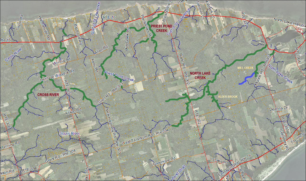North Lake, Priest Pond and Cross River Stream Habitat Restoration Map